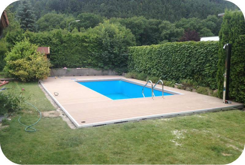 Wpc und holz terrassen wimtek 4772 lambrechten - Die poolbauer ...